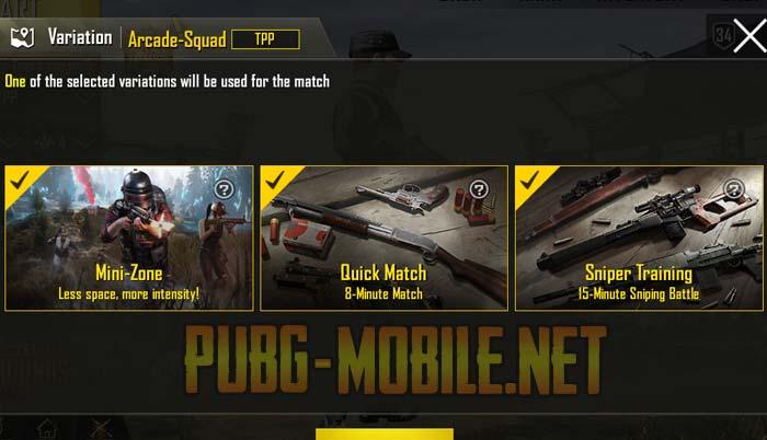 PUBG Arcade Mode
