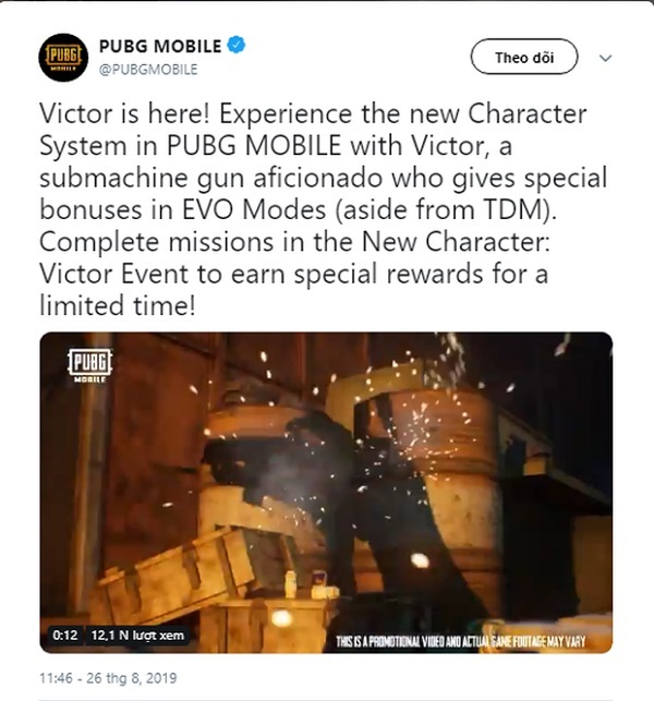 PUBG Mobile Released Victor