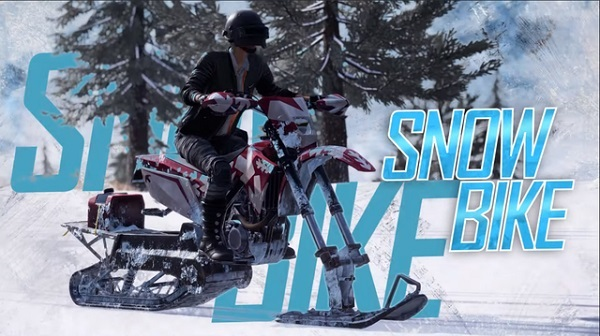 Try Snowbike - And Upgraded Vehicle on PUBG Vikendi Map