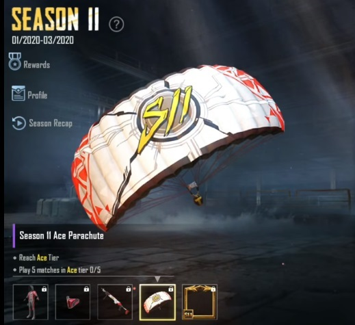 Parachute Skin Will Be The Reward For The Ace-Ranked Player