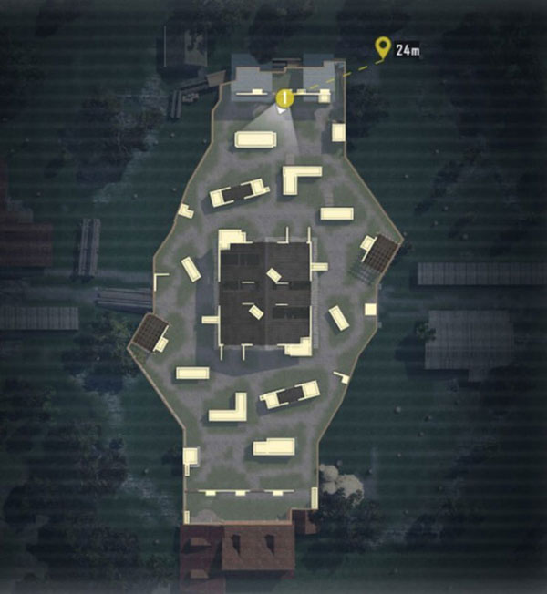 Warehouse Map in PUBG Mobile TDM