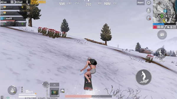 PUBG Mobile Skiing