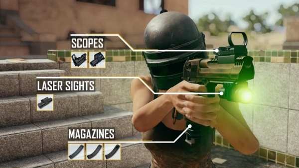 Features and attachments of a Desert Eagle in PUBG Mobile