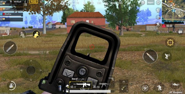 Stick to the circles in PUBG Mobile game